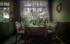 Picture interior, restaurant, hall