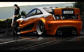 Picture girl, tuning, toyota, celica