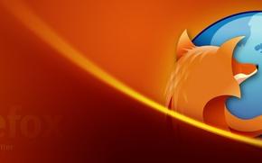 Wallpaper Orange, Fox, Firefox