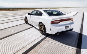 Picture background, horizon, Dodge, Dodge, rear view, Charger, Hellcat, SRT, The charger