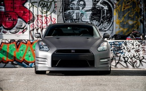 Picture nissan, silver, gt-r