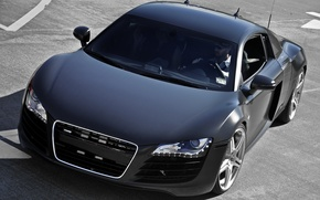 Wallpaper Black, Matte, stylish, Audi