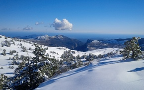 Picture snow, mountains, nature, tops