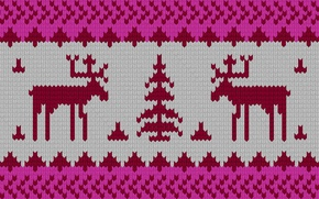Picture winter, new year, texture, deer, ornament, moose, the texture of the sweater, texture with deer, …