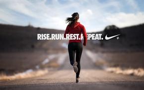 Picture nike, running girl, nike+, run, running