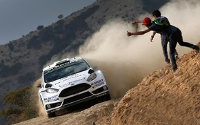 Picture Ford, Dust, WRC, Rally, Fiesta, Evans