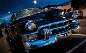Picture drops, Cadillac, 1953, sedan, classic, the front, Cadillac