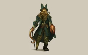 Picture octopus, tentacles, Pirates of the Caribbean, octopus, Davy Jones, Pirates of the Caribbean, Davy Jones