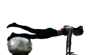 Picture fitness, training, training ball
