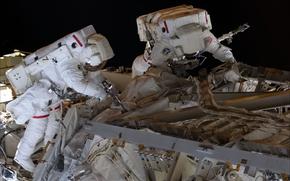 Picture space, technique, repair, the astronauts