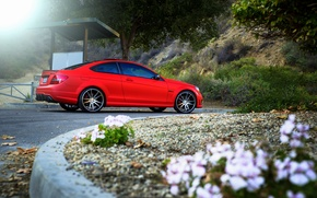Picture red, Mercedes Benz, AMG, C63