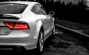 Picture style, sport, Audi, white, car, Audi A7