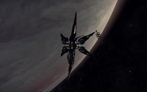 Picture space, surface, planet, station, starship, Star Citizen, Khartu-Al