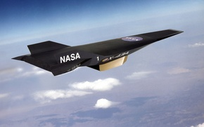 Wallpaper hypersonic, unmanned, X-43A, black, NASA, the sky, Nasa, The plane