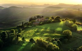 Picture greens, landscape, nature, Italy, Tuscany
