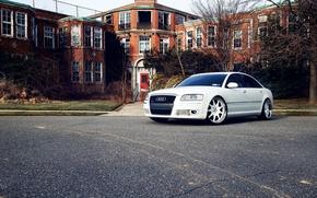 Picture Audi, white, cars, auto, wallpapers auto, Wallpaper HD, tuning cars, tuning auto, wallpapers audi, Audi …