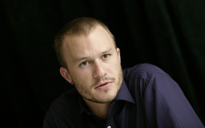 Picture Actor, Tattoo, Earrings, Male, Bristles, Shirt, Heath Ledger, Heath Ledger