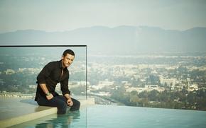 Picture Luke Evans, water, pool, luke evans, male
