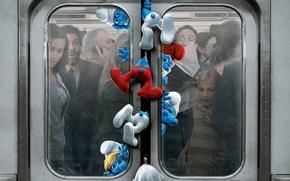 Picture metro, station, New York, dwarves, underground, station, the movie, rush hour, Smurfs, New-York, the Smurfs