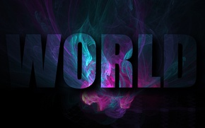 Picture abstract, dark, World, black, Text