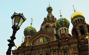Picture the sky, Saint Petersburg, lantern, dome, Church Of The Resurrection