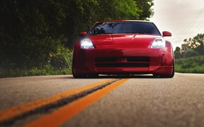 Picture road, red, before, red, Nissan, Nissan, 350Z, stance