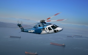 Picture Sikorsky, S‑76, HELIJET