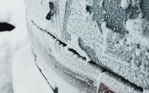 Picture winter, frost, machine