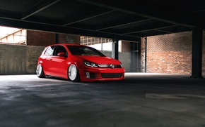 Picture Volkswagen, red, GTI, mk6