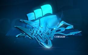 Wallpaper corsair, style, graffiti