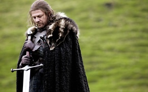 Picture sword, Ice, Game of Thrones, game of thrones, sean bean, Sean bean, Stark