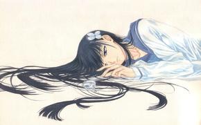 Picture lies, bottle, schoolgirl, long hair, Sankarea, sailor, Sanka Rea