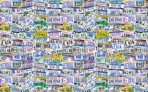 Picture figures, background, American States, letters, USA, signs, rooms, texture