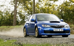 Picture Subaru, blue, Subaru Impreza, Subaru Impreza WRX Sti