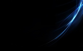 Picture abstract, black, blue, minimalistic