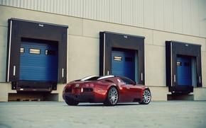 Picture Bugatti, Bugatti, Veyron, Veyron, Red, Supercar, 16.4, Rear