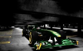 Picture green, formula 1, the car, lotus renault