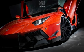 Picture Orange, Lamborghini Aventador, DMC Tuning