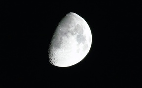Picture space, the moon, quality, craters, not full