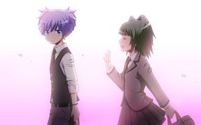 Picture girl, anime, art, Ansatsu Kyoushitsu, the class assassins, Nagisa