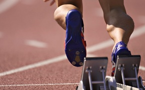 Picture FEET, MUSCLE, The CLIPS, SNEAKERS, STADIUM, RUNNING, TRACK