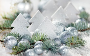 Picture balls, balls, toys, tree, New Year, Christmas, Christmas, New Year, silver, Christmas