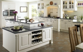 Wallpaper white, design, style, table, room, interior, kitchen, apartment