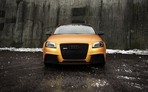 Picture Audi, Audi, gold, the front, front, Spirtback, Schwabenfolia, RS3, Gold Orange