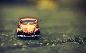 Picture machine, macro, toy, Volkswagen Beetle, Volkswagen Beetle