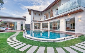 Picture design, style, Villa, interior, pool, exterior