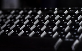 Picture macro, black and white, keys, keyboard