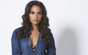Picture look, pose, background, actress, brunette, Monica Raymund, Monica Raymund
