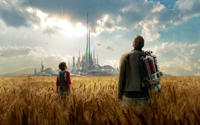 Picture field, the city, fiction, ears, utopia, George Clooney, George Clooney, Tomorrowland, parallel world, Future earth, ...