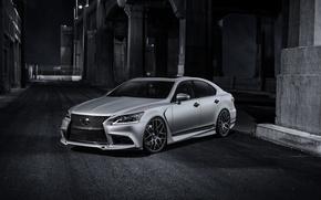 Picture Auto, Night, Lexus, Tuning, The hood, Lane, F-Sport, LS 460, Five Ax